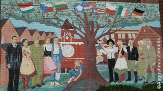 International mural at Old North Dayton