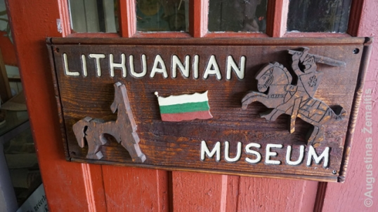 Frackville Lithuanian museum sign