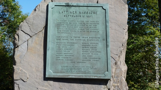 Lattimer Massacre site memorial list of victims