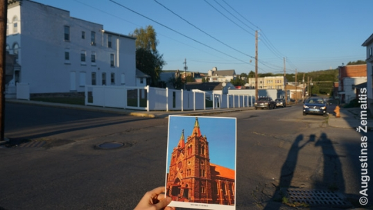 Shenandoah St. George Lithuanian church site and its image