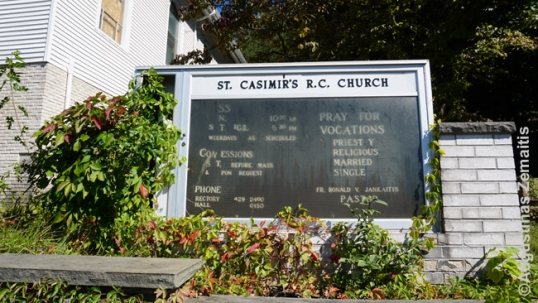 St. Clair church information with a priest's surname