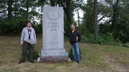 Destination America expedition leader Augustinas Žemaitis with Vito Zenkus. a Lithuanian from Worcester