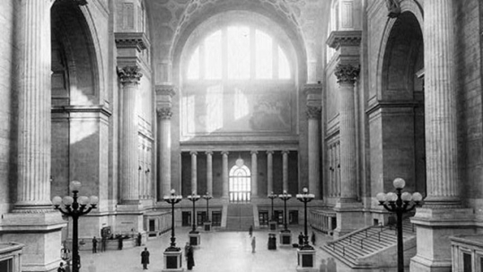 New York's Penn Station, demolished in 1964 and replaced by a more simple building. Its loss has been regarded as a great tragedy for New York. The loss of unique Lithuanian-American buildings such as clubs and churches is an irreplaceable loss as well