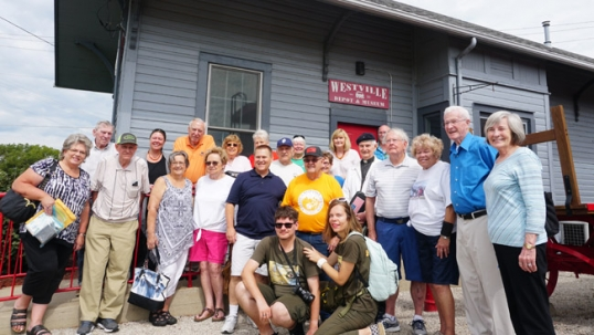 Destination Lithuanian America 2018 expedition was met in 3000-strong Westville by a group of 40 people, nearly all of them descendants of Lithuanians who are interested in their heritage