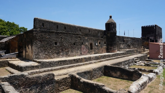 Mombasa Fort, safeguarded by Oman as parts of its heritage. The fort was renovated for Omani money, however, the interior rooms are now used to promote Oman for tourism