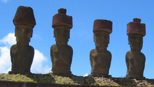Easter Island statues, some of the most famous sites of a lost civilization