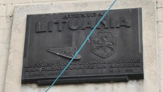 Rosarijo Lietuvos gatvės atminimo lenta