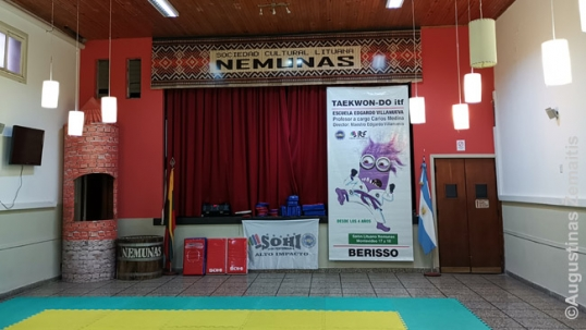 "Main hall of the club ""Nemunas"""