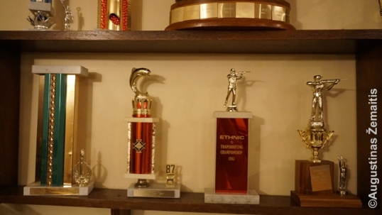Trophies of Giedraitis club in the clubhouse