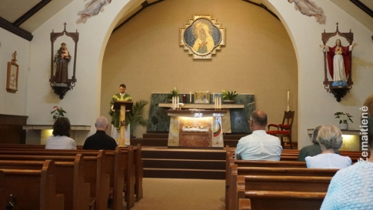 Altar of the Hamilton Lithuanian church of Ontario