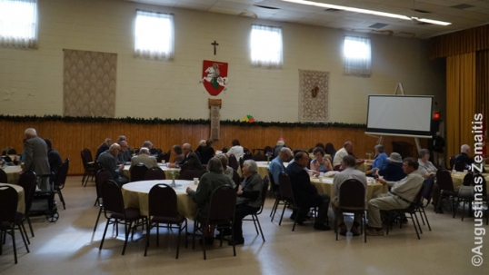 Inside the Lithuanian Youth Center of Hamilton during a coffee-break after Sunday mass