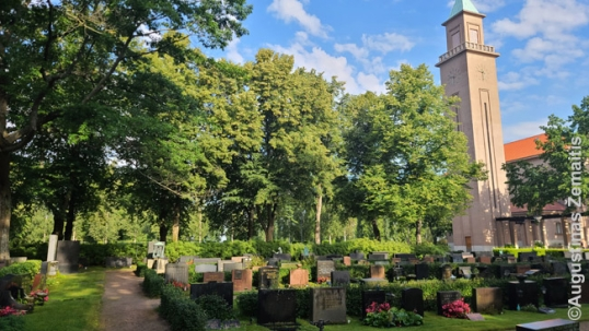 The location of Aukusti Robert Niemi grave in Hietaniemi cemetery